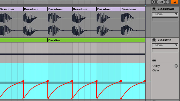sidechin compression ableton live 9 utility