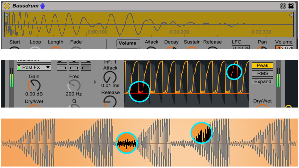 sidechain compression in Ableton Live 9